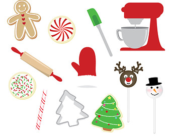 Baking clipart holiday baking 12 Pieces for Clipart INSTANT