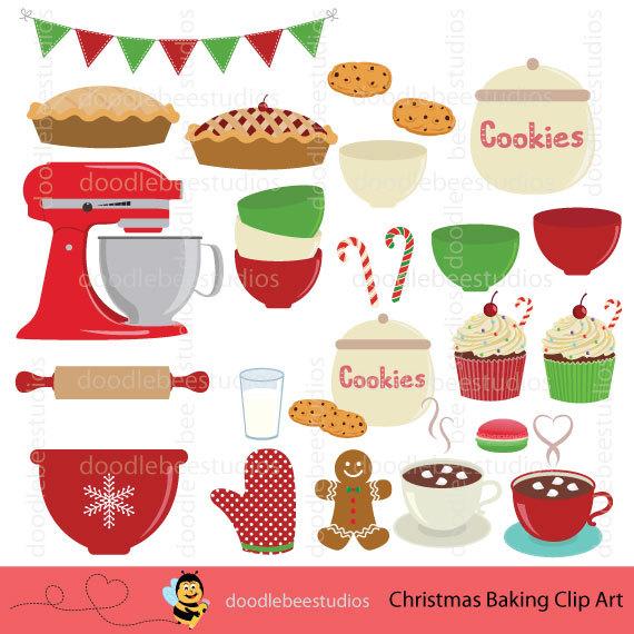 Baking clipart holiday baking Baking Clip Christmas Baking Utensils