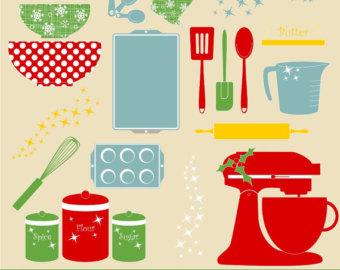 Baking clipart holiday baking Baking Clipart Digital Kitchen Clipart