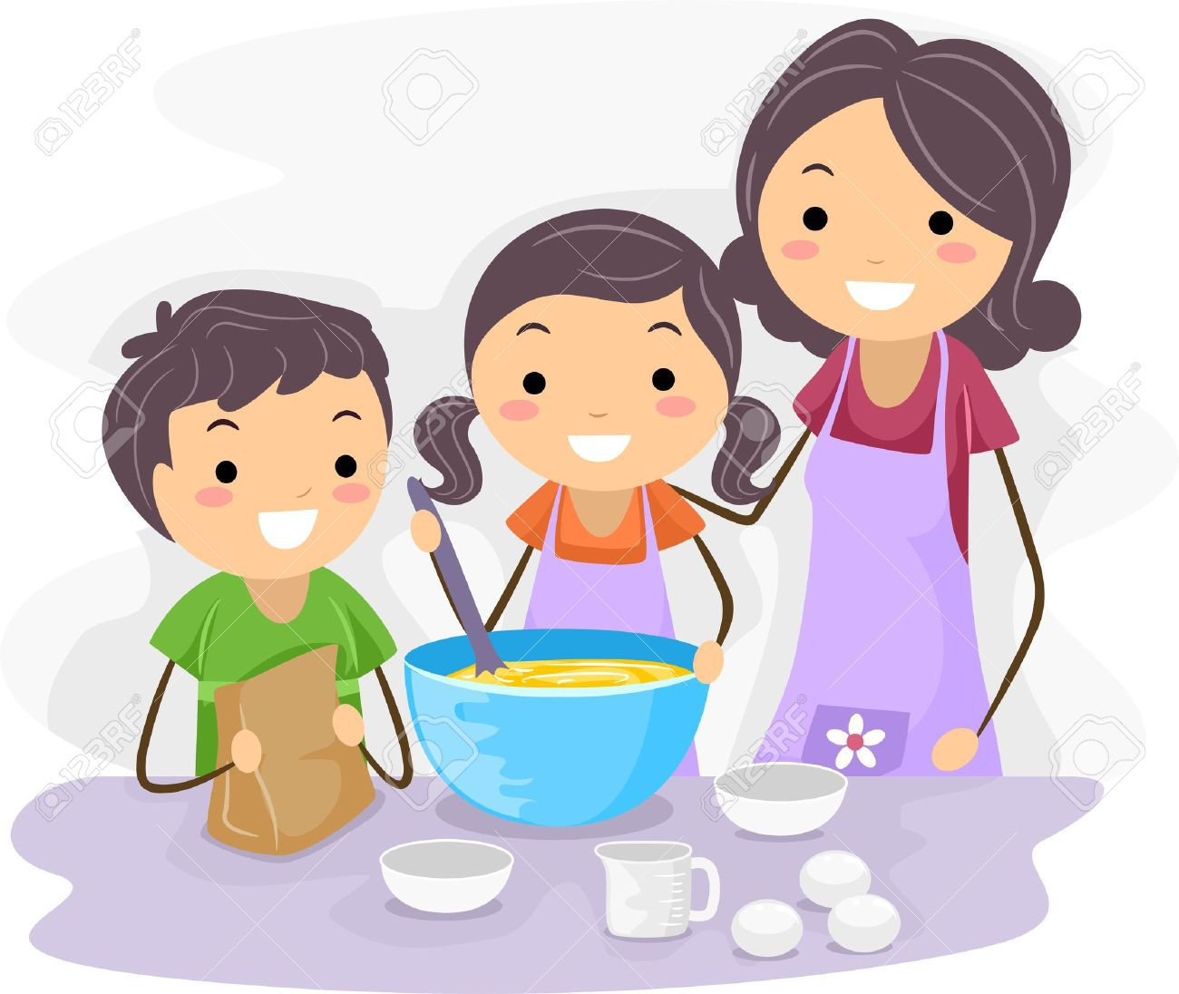 Baking clipart kids cook To Stock — of kids