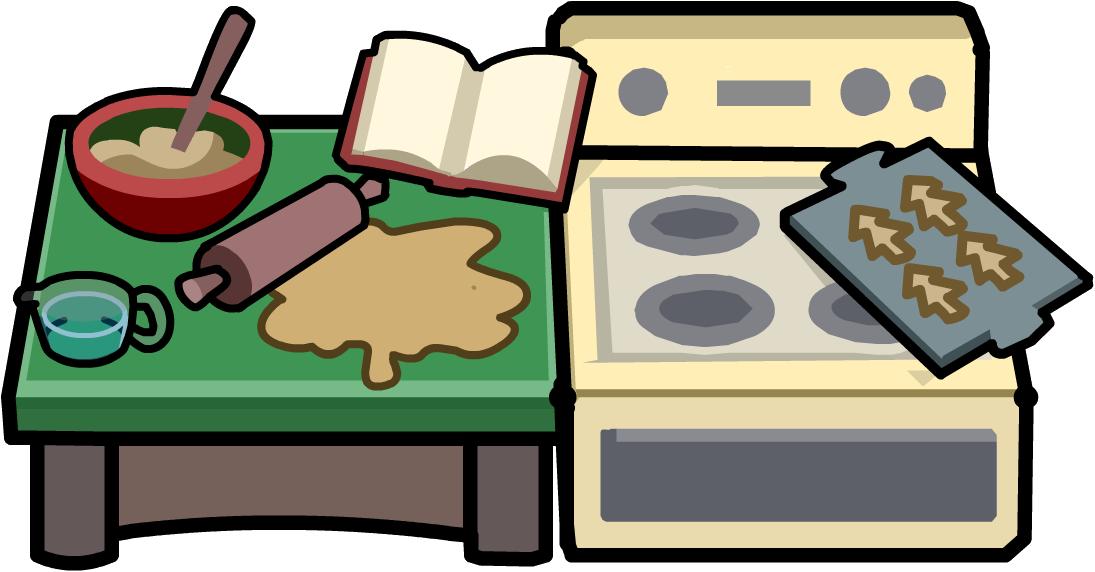 Baking clipart kitchen furniture Penguin Wikia Club Bake Kitchen