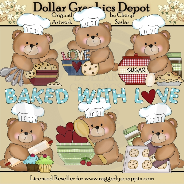 Baking clipart love Dollar Clip Bake Bears To