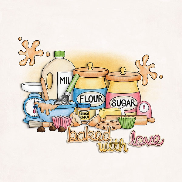 Baking clipart love With With Love Baked Love