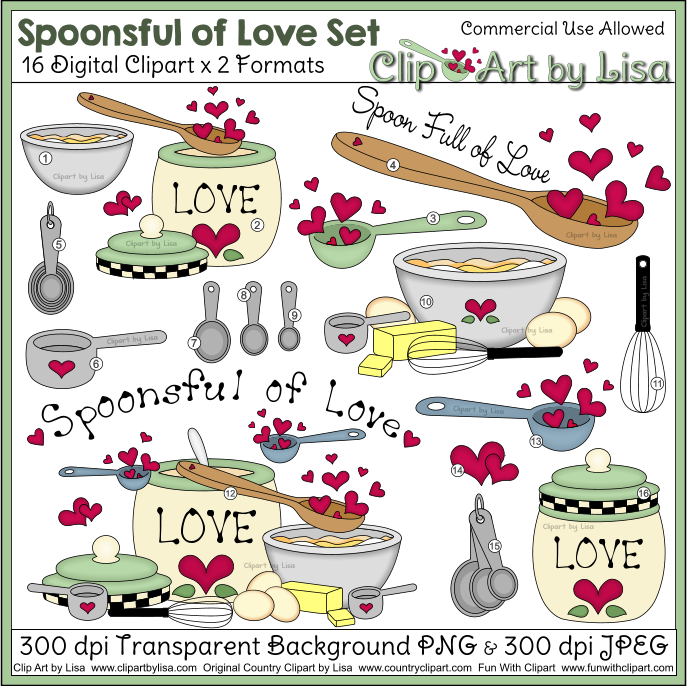 Baking clipart love Spoonsful clipart Baking of Clipart