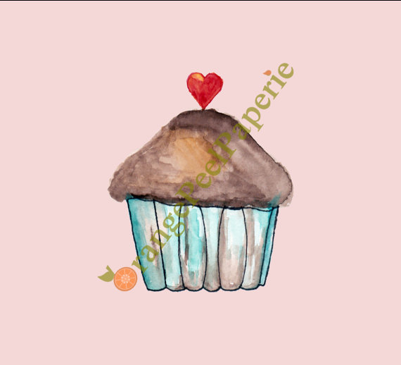 Baking clipart love Watercolor Valentine is digital Art