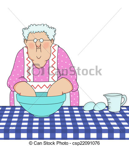 Baking clipart mix ingredient Grandma Clipart  Baking
