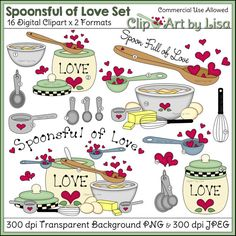 Baking clipart mix ingredient Stand and cupcakes cupcake Love