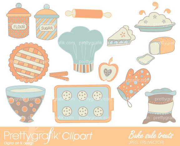 Baking clipart mix ingredient Cookies digital commercial digital use