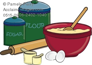 Baking clipart mixing bowl Of Illustration a Baking Cake
