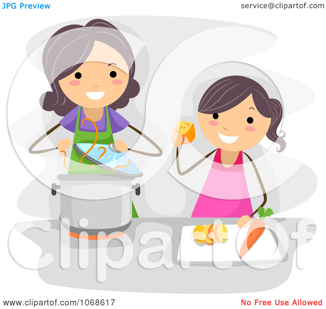 Baking clipart mom Baking daughter baking clipart and