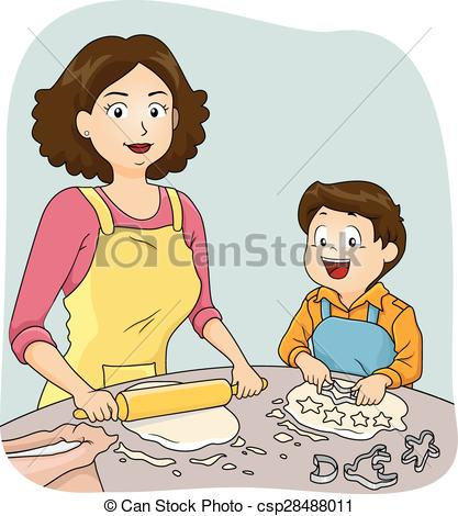 Baking clipart mom Mother of Mom Baking Vector