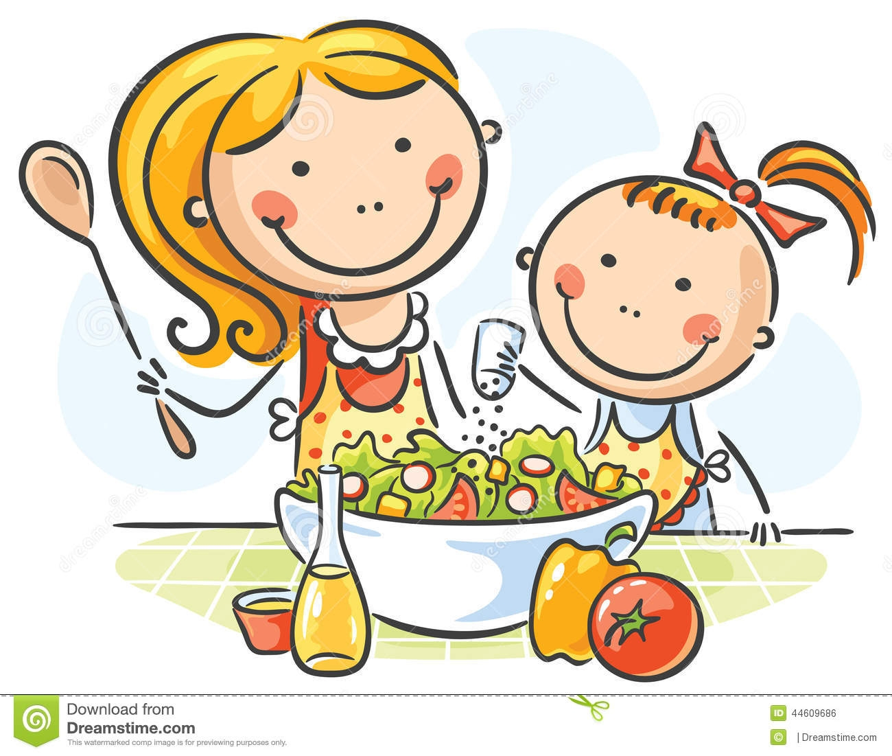 Baking clipart mom Clipart daughter cooking And Daughter