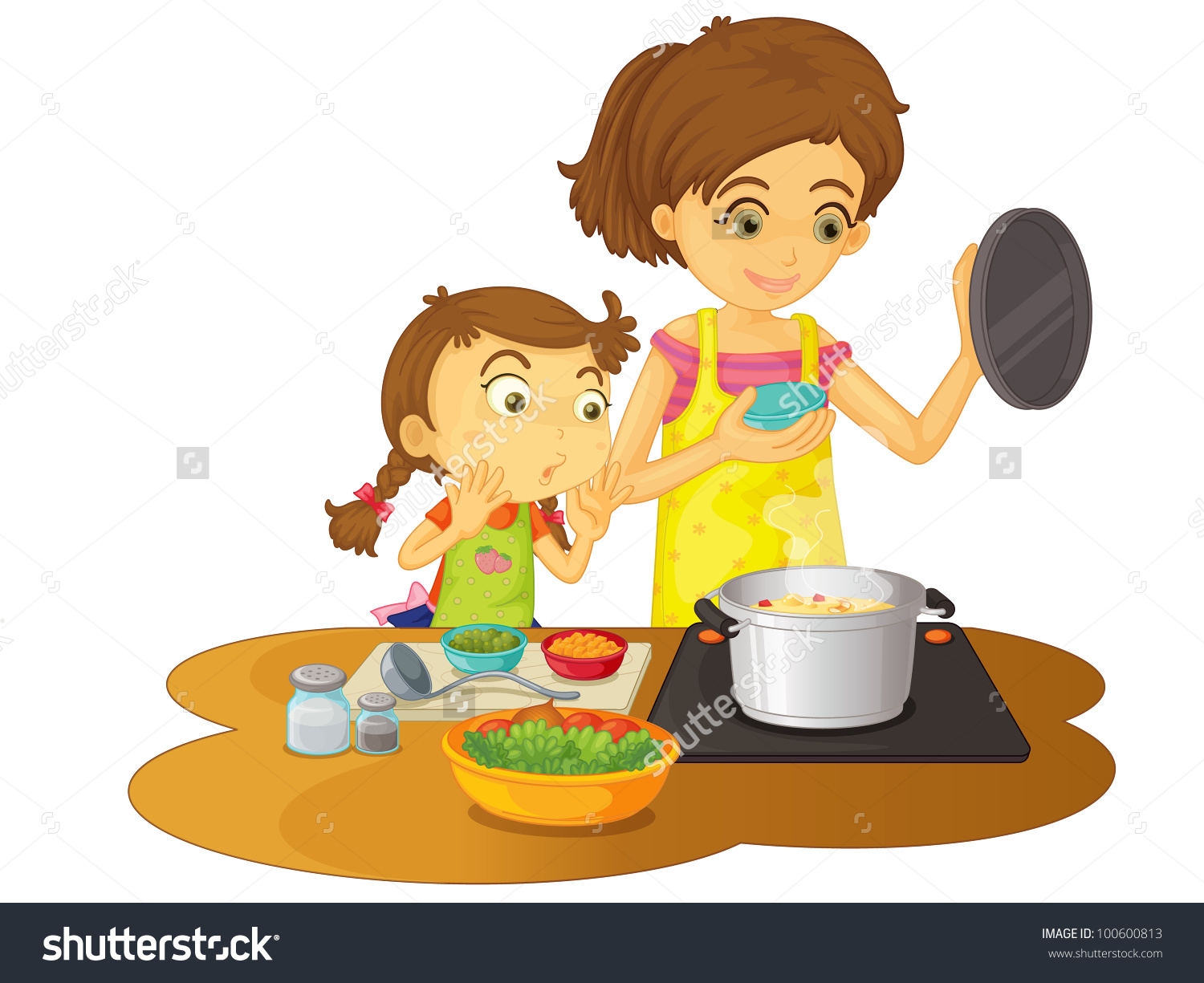 Baking clipart mother daughter Mother 101 Mother Clipart Clipart