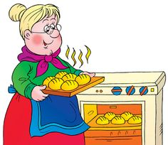 Baking clipart old woman Clipart baking woman Old Cooking