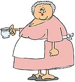 Baking clipart old woman And Illustrations Woman old lady