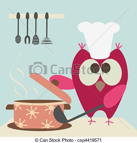 Baking clipart owls Images a Owl Cute Cooking
