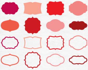 Baking clipart red frame Red tags Tags Etsy Borders