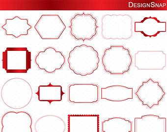 Baking clipart red frame Digital graphics Scrapbooking Etsy Clip