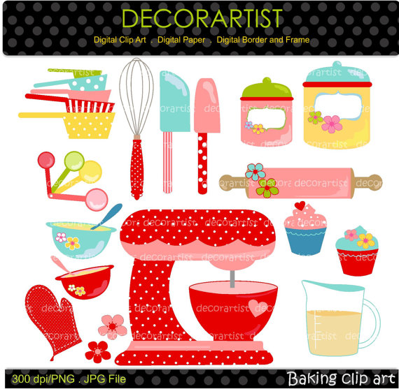 Baking clipart red frame For Digital bakers use Digital