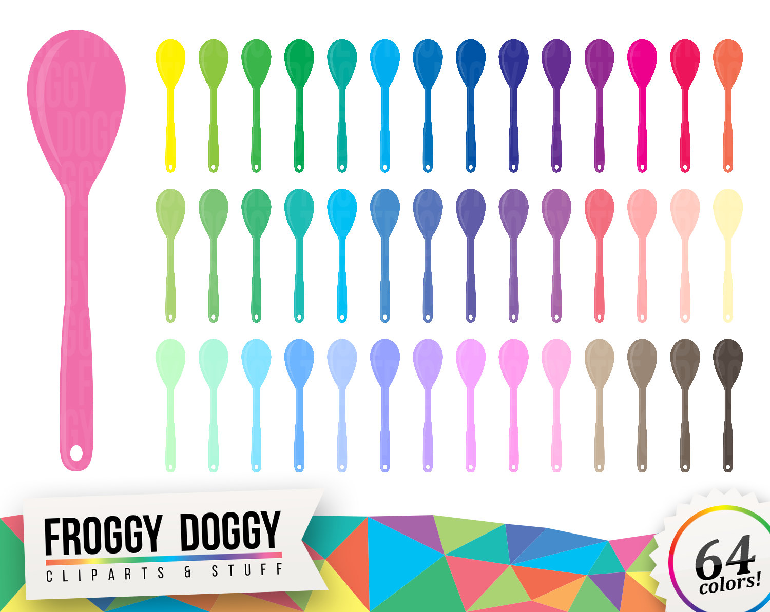 Cutlery clipart vector Kitchen Spoon digital Clipart Baking