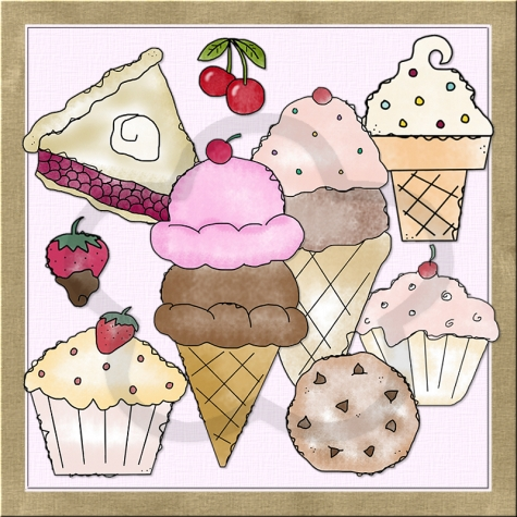 Baking clipart sweet treat Exclusive Shoppe Treats Art Treats