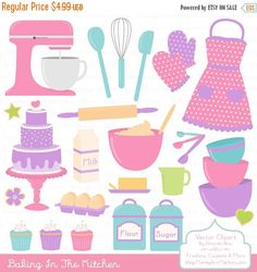 Baking clipart vector Baking by AmandaIlkov Baking Clipart
