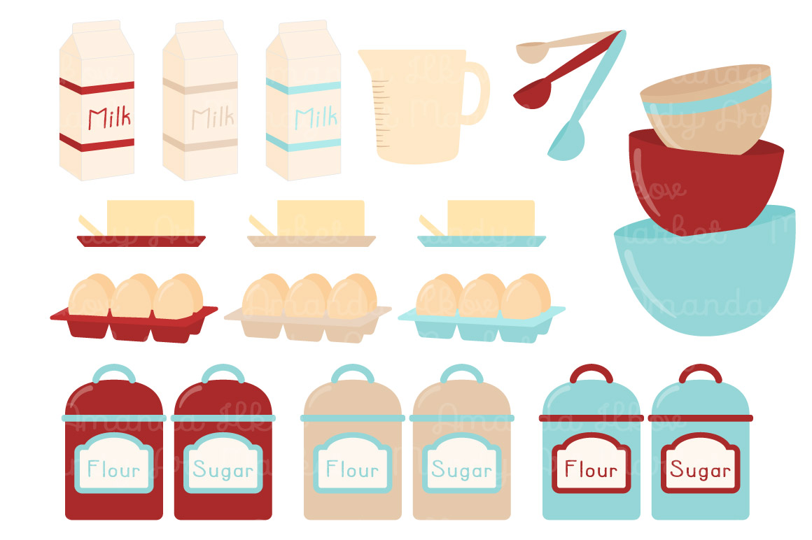 Baking clipart vector Baking TheHungryJPEG by Amanda &