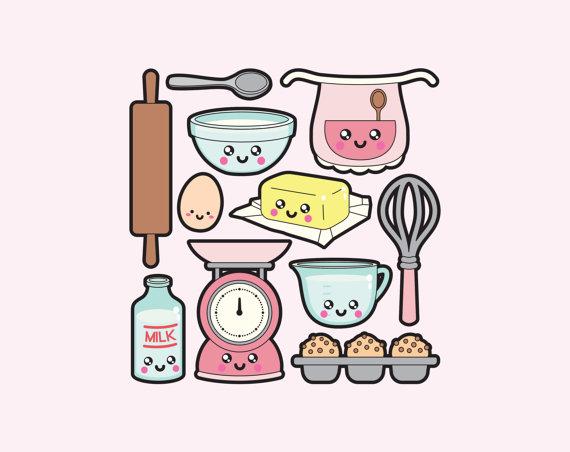 Baking clipart vector Instant baking Kawaii  baking