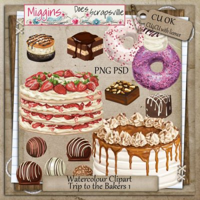 Baking clipart welcome hand [miggins watercolour clipart to Drawn