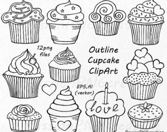 Baking clipart welcome hand Cupcake PNG art drawn Cupcake