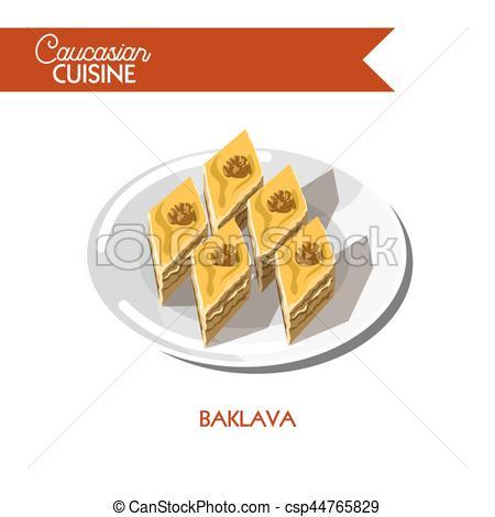 Baklava clipart dough Dessert dessert cuisine of flat