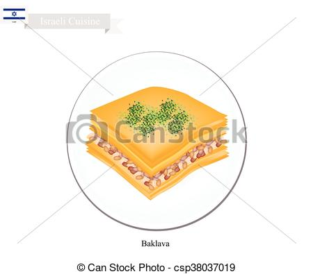 Baklava clipart sweet Israeli csp38037019 of Pastry or