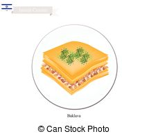 Baklava clipart sweet Or Syrup Vector Cheese 95