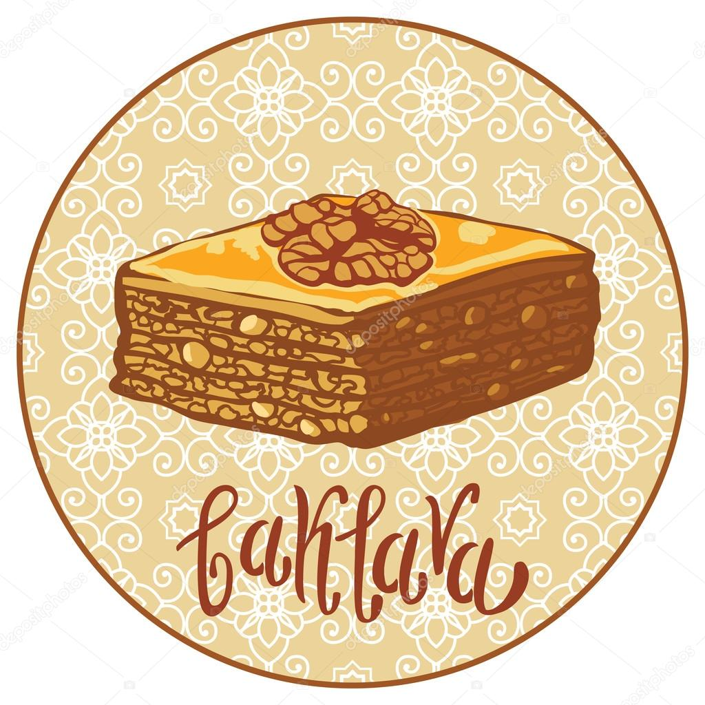 Baklava clipart sweet The in vector with Turkey