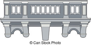Balcony clipart Illustrations and element illustration Stock