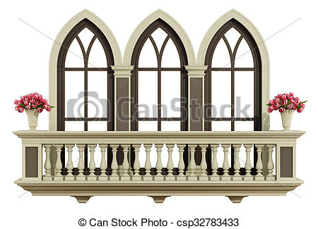Balcony clipart Classic balcony Drawings  with
