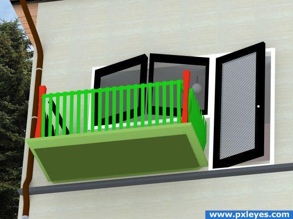 Balcony clipart Balcony window 45KB clipart download
