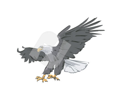 Bald Eagle clipart pagemaker Backgrounds PowerPoint 00574 Product Template