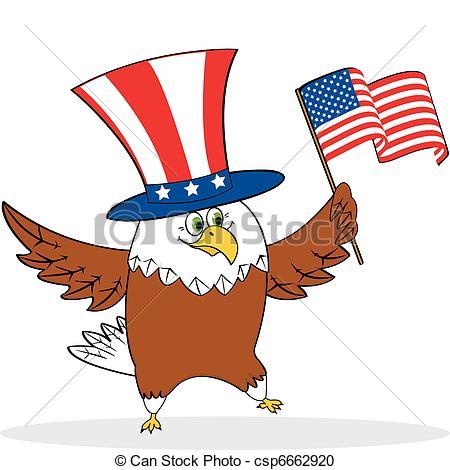 Bald Eagle clipart patriotic Holding of eagle  patriotic