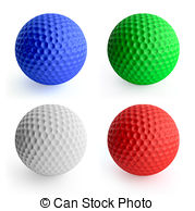 Golf Ball clipart colored Color balls 069 Art and