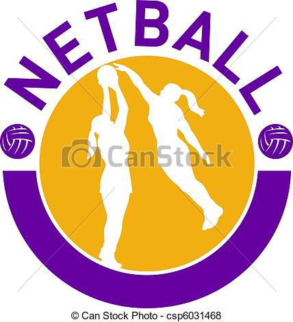 Ball clipart netball ball Shooting netball Illustration Stock ball