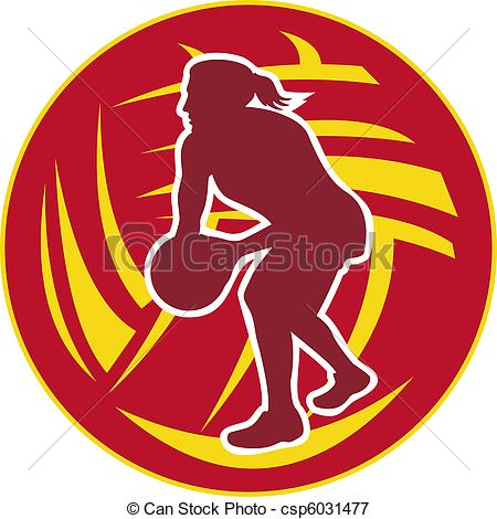 Ball clipart netball ball Passing netball Illustration Stock ball