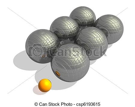 Ball clipart petanque Petanque jack game  white