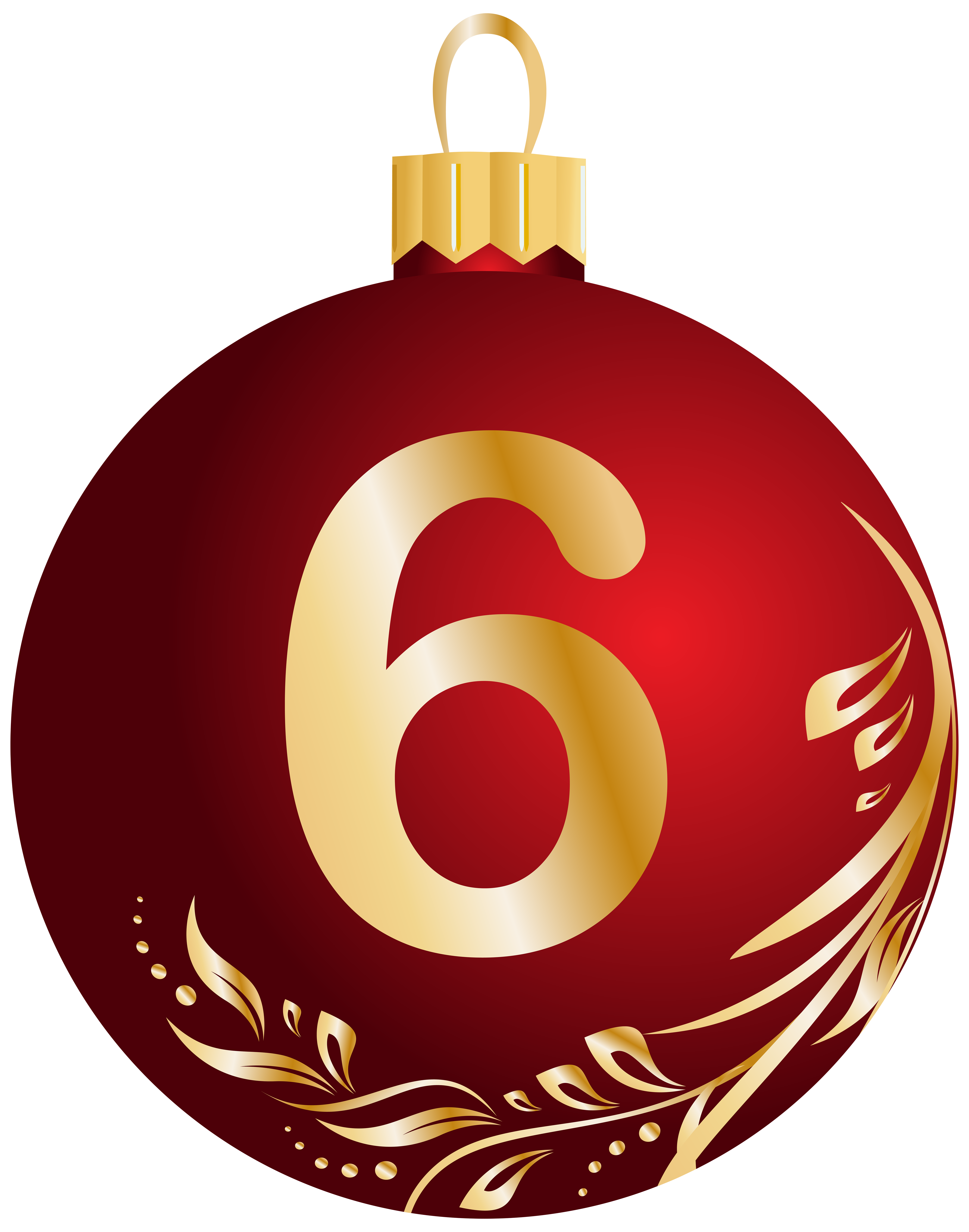 Ball clipart six Christmas PNG full Clip Gallery