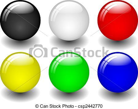 Ball clipart six Clipart of Balls six