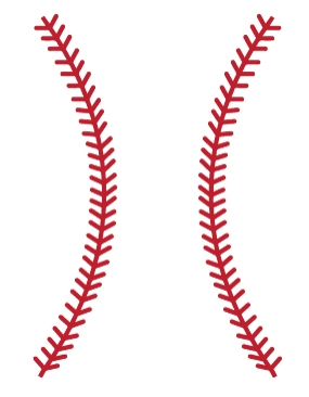 Baseball clipart border Thread Stitches Baseball collection #12127