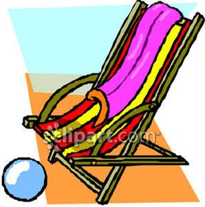 Ball clipart the chair Royalty Clipart Beach Clipart Under