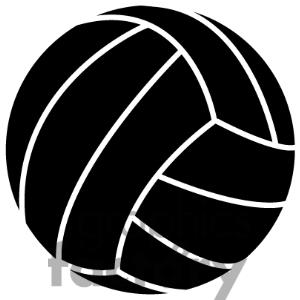 Black clipart volleyball Volley collection Volleyball ball clipart