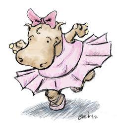 Ballerina clipart hippo #8