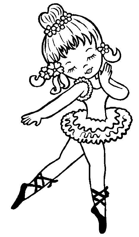 Ballerine clipart coloring #12